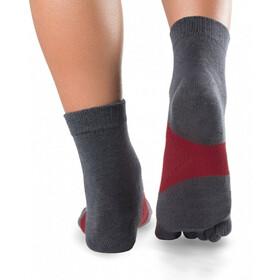 Knitido Running TS Socks grey/carmine red